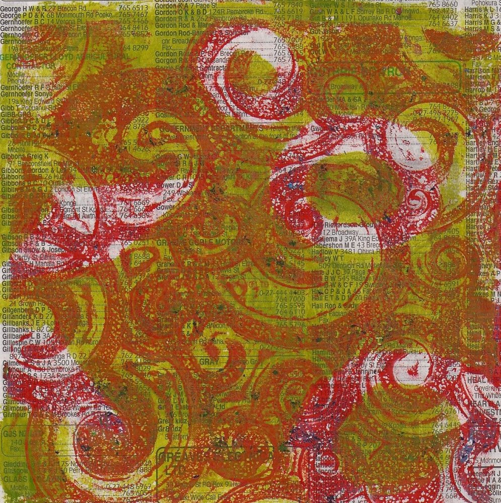 Gelli prints (3/6)