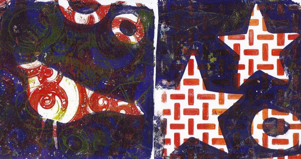 Gelli prints (1/6)