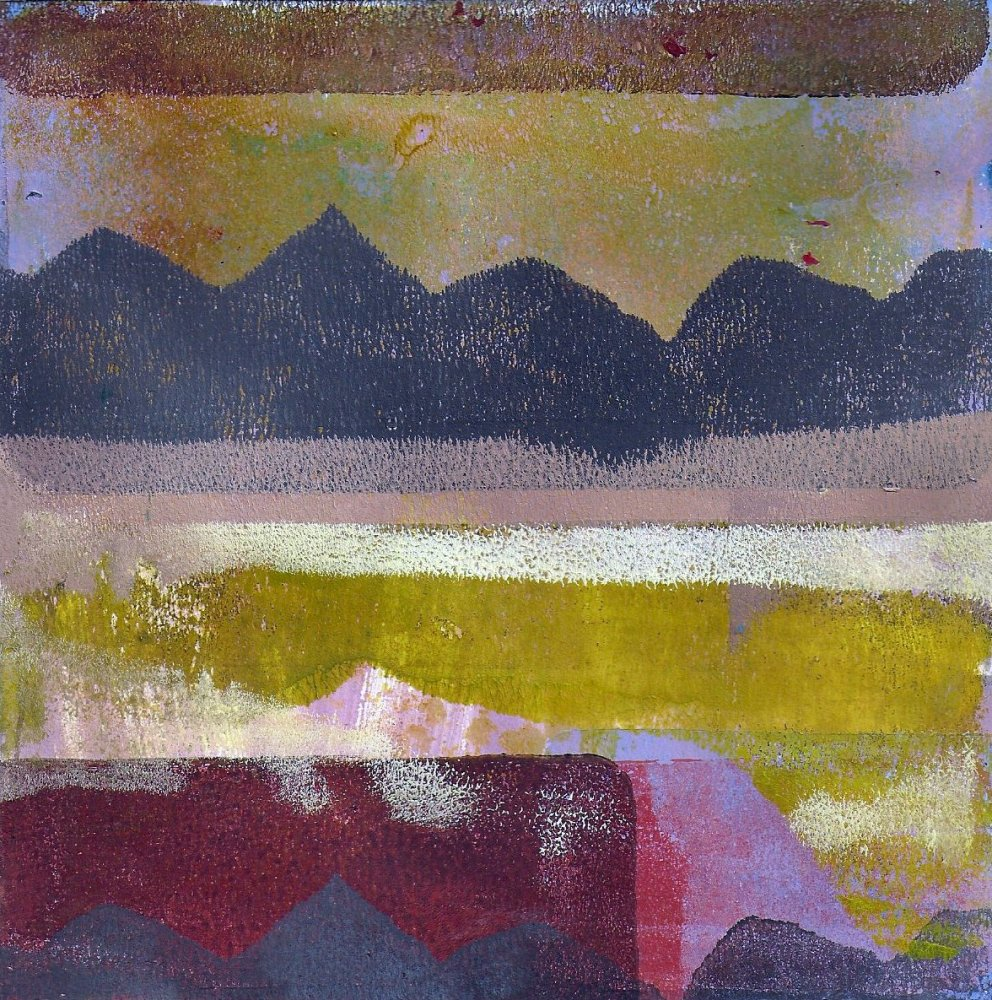 Gelli plate landscapes (2/5)