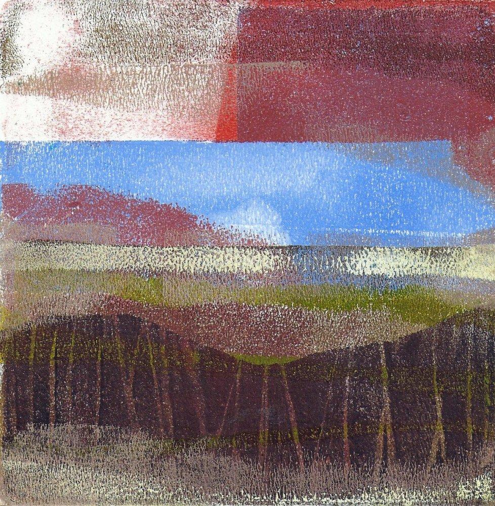 Gelli plate landscapes (4/5)