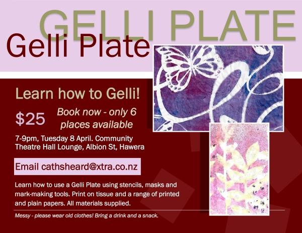 gelli plate class april poster