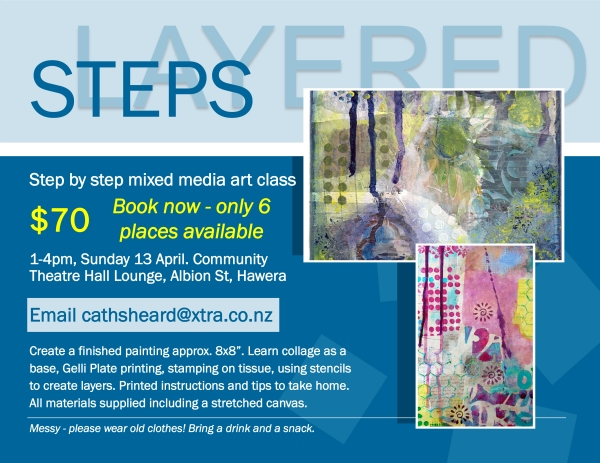 layered steps class april poster