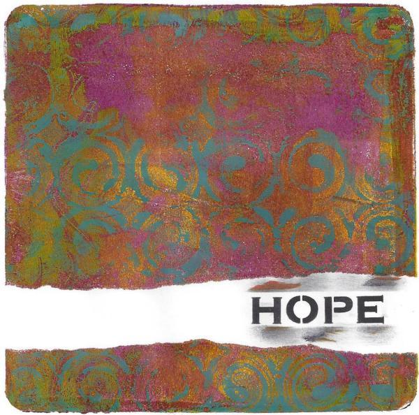 gelli print hope