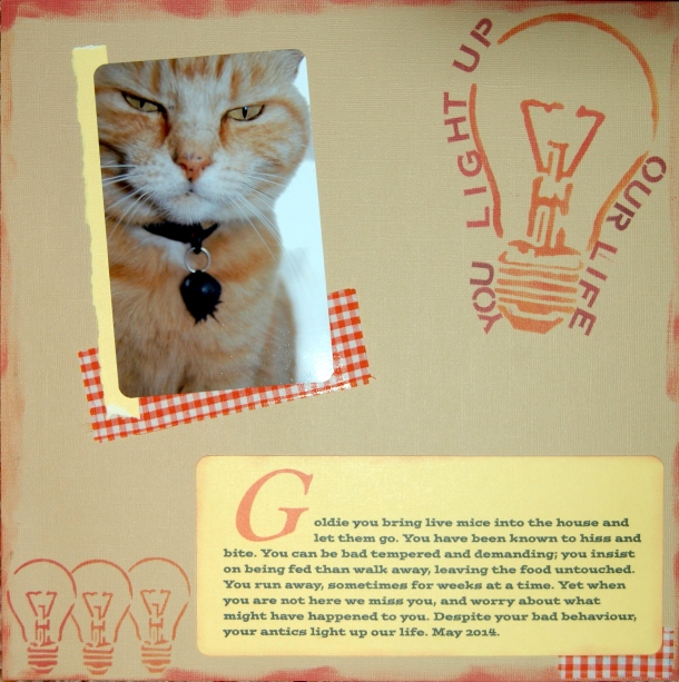 Goldie journal page 2014-05-04
