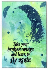 broken wings card