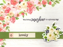 floral lovey card