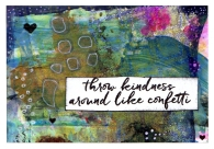 gelli background kindness card