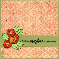 green and orange suinshine card