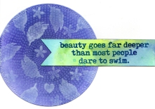 purple circle beauty card