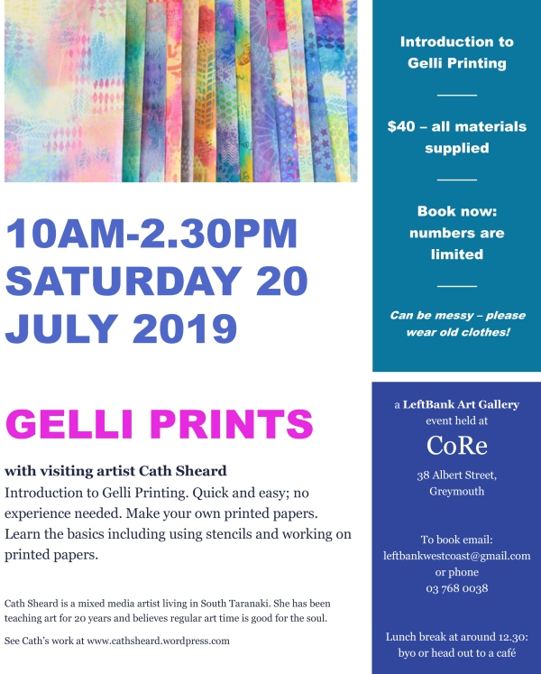 gelli print poster for greymouth