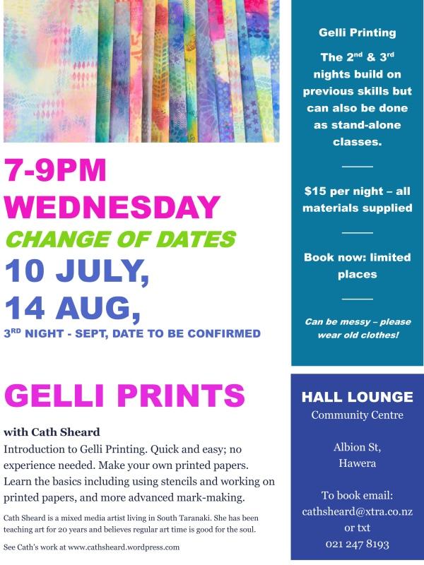 gelli print poster for hawera